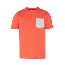 Buy Kin by John Lewis Boys' Chest Pocket T-Shirt, Red Online at johnlewis.com