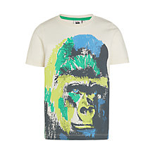 Buy Kin by John Lewis Boys' Gorilla T-Shirt, White/Multi Online at johnlewis.com