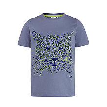 Buy Kin by John Lewis Boys' Cheetah T-Shirt, Dark Grey Online at johnlewis.com