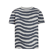 Buy Kin by John Lewis Boys' Crayon Waves T-Shirt, Grey Online at johnlewis.com