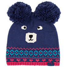 Buy Fat Face Camborne Bear Hat, Navy Online at johnlewis.com