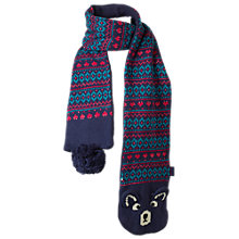 Buy Fat Face Camborne Bear Scarf, Navy Online at johnlewis.com