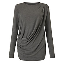 Buy John Lewis Capsule Collection Charlotte Drape Top, Grey Marl Online at johnlewis.com