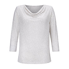 Buy John Lewis Capsule Collection Linen Sky Print Cowl Neck Top Online at johnlewis.com