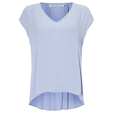 Buy John Lewis Capsule Collection Pleat Back Top, Light Blue Online at johnlewis.com