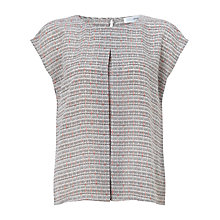 Buy John Lewis Silk Laura Print Top, Pink Multi Online at johnlewis.com