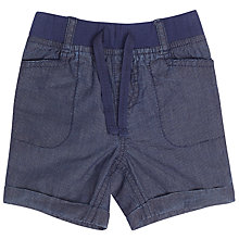 Buy John Lewis Baby Textured Shorts, Navy Online at johnlewis.com