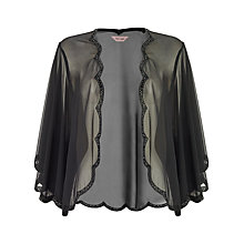 Buy Phase Eight Beaded Scallop Cape, Black Online at johnlewis.com