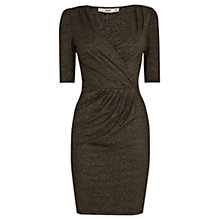 Buy Oasis Romana Metallic Wrap Dress, Gold Online at johnlewis.com