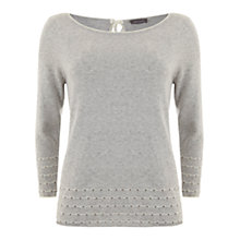 Buy Mint Velvet Pointelle Knit, Grey Online at johnlewis.com