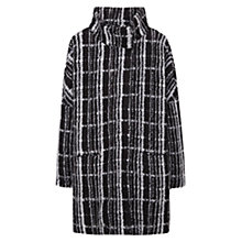 Buy Mango Textured Coat, Black Online at johnlewis.com