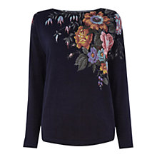 Buy Oasis Felicity Jumper, Navy Online at johnlewis.com