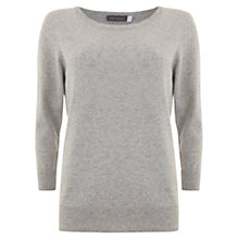 Buy Mint Velvet 3/4 Crew Neck Knit, Grey Online at johnlewis.com