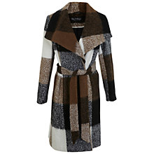 Buy Miss Selfridge Check Wrap Coat, Multi Online at johnlewis.com