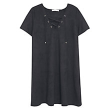 Buy Mango Drawstring Waist Dress, Black Online at johnlewis.com