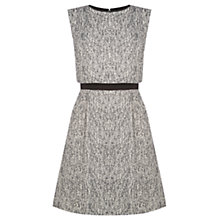 Buy Oasis Tweed Overlay Dress, Black and White Online at johnlewis.com