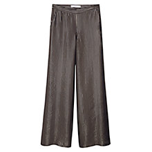 Buy Mango Striped Palazzo Trousers, Black Online at johnlewis.com