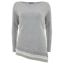 Buy Mint Velvet Silk Hem Knit, Grey Online at johnlewis.com