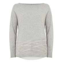 Buy Mint Velvet Felt Split Back Jumper, Silver Grey Online at johnlewis.com