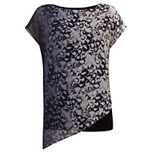 Buy Mint Velvet Yoseline Asymmetric Tee, Grey Online at johnlewis.com