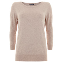 Buy Mint Velvet 3/4 Crew Neck Knit, Pale Pink Online at johnlewis.com