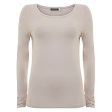 Buy Mint Velvet Long Sleeve Modal T-Shirt, Pale Pink Online at johnlewis.com