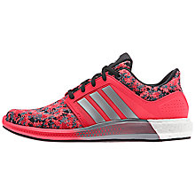 Buy Adidas Women's Solar Running Trainers, Red/Grey Online at johnlewis.com