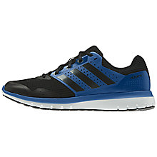 Buy Adidas Duramo 7 Men's Running Shoes, Black/Blue Online at johnlewis.com