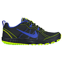 Buy Nike Wild Trail Men's Running Shoes, Black/Blue Online at johnlewis.com