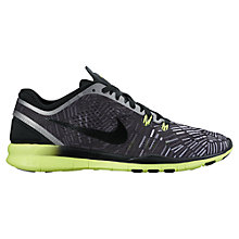 Buy Nike Free TR 5 Flyknit Training Shoes, Black/Silver Online at johnlewis.com
