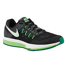 Buy Nike Air Zoom Vomero 10 Men's Running Shoes, Black/Green Online at johnlewis.com