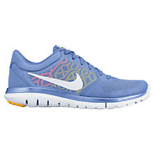 Buy Nike Flex Run 2015 Women's Running Shoes, Blue/White Online at johnlewis.com