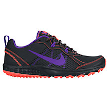 Buy Nike Wild Trail Running Shoes, Black/Purple Online at johnlewis.com