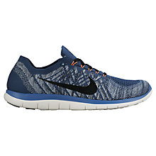 Buy Nike Free 4.0 Flyknit Men's Running Shoes, Squadron Blue Online at johnlewis.com