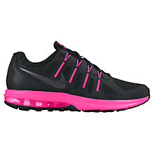 Buy Nike Air Max Dynasty Women's Running Shoes, Black/Pink Online at johnlewis.com