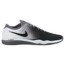 Buy Nike Dual Fusion 4 Print Women's Cross Trainers, Black/White Online at johnlewis.com