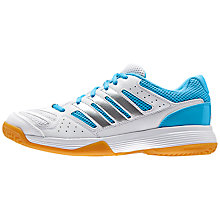 Buy Adidas Speedcourt 8 Women's Court Shoes, White/Blue Online at johnlewis.com