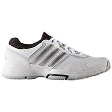 Buy Adidas Barricade 2.0 Women's Tennis Court Shoes, White Online at johnlewis.com