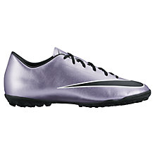 Buy Nike Mercurial Victory V Men's Turf Football Boots, Purple/Black Online at johnlewis.com
