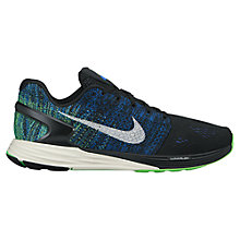 Buy Nike LunarGlide 7 Men's Running Shoes, Black/Blue Online at johnlewis.com