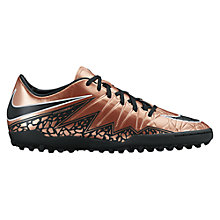 Buy Nike Hypervenom Phinish II Firm Ground Football Boots, Red/Bronze Online at johnlewis.com