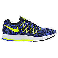 Buy Nike Air Zoom Pegasus 32 Men's Running Shoes, Racer Blue/Yellow Online at johnlewis.com