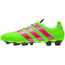 Buy Adidas Men's Football Boots, Green/Pink Online at johnlewis.com