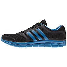 Buy Adidas Breeze 101 Men's Running Shoes, Black/Blue Online at johnlewis.com