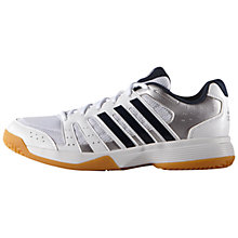 Buy Adidas Ligra 3 Men's Court Shoes, White Online at johnlewis.com
