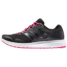 Buy Adidas Duramo 7 Women's Running Shoes, Black/Pink Online at johnlewis.com