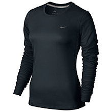 Buy Nike Dry Miler Women's Running Top, Black Online at johnlewis.com