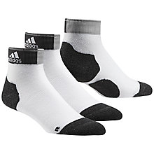 Buy Adidas Run Energy Socks, Pack of 2, White/Black Online at johnlewis.com