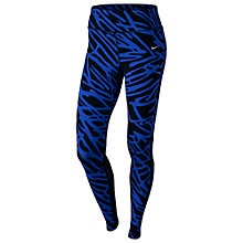 Buy Nike Palm Epix Lux Running Tights, Blue/Black Online at johnlewis.com
