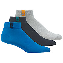 Buy Adidas Performance Ankle Socks, Pack of 3, Multi Online at johnlewis.com